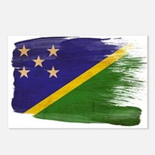 Solomon Islands Flag Postcards (Package of 8)