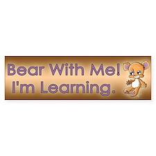 Teddy M. Bear Car Car Sticker