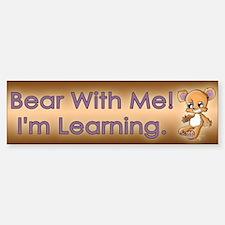 Teddy M. Bear Sticker (Bumper)