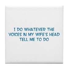 Funny Husband Valentine Tile Coaster