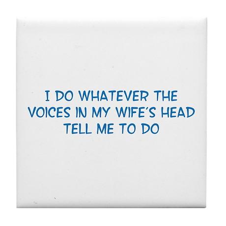 Funny Husband Valentine Tile Coaster