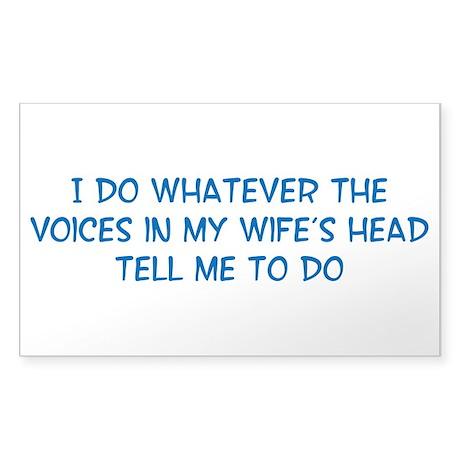 Funny Husband Valentine Sticker (Rectangle)