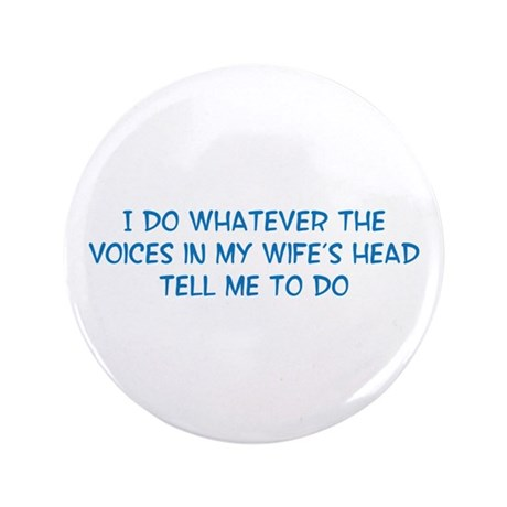 "Funny Husband Valentine 3.5"" Button"