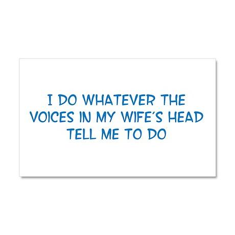 Funny Husband Valentine Car Magnet 20 x 12