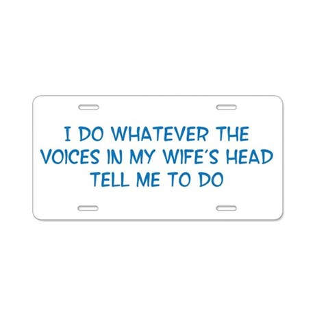 Funny Husband Valentine Aluminum License Plate