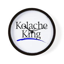 Kolache King Items Wall Clock