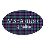 Tartan - MacArthur of Milton Sticker (Oval 50 pk)