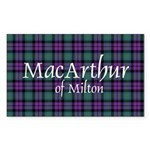 Tartan - MacArthur of Milton Sticker (Rectangle)