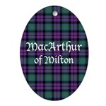 Tartan - MacArthur of Milton Ornament (Oval)