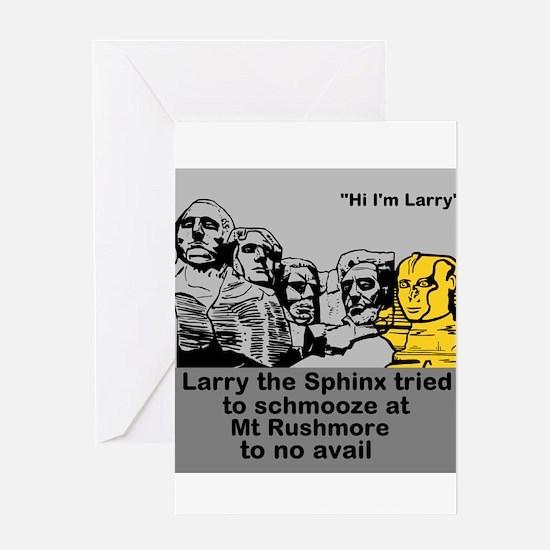 Larry at Mt Rushmore Greeting Card
