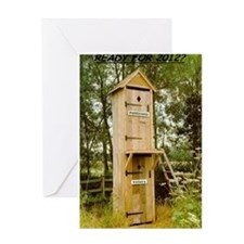 Politician/Voter Outhouse Greeting Card