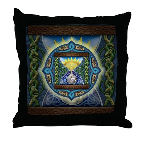 Celtic Hourglass Throw Pillow