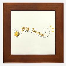 Big Sister Bee Framed Tile