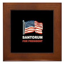 Santorum for president Framed Tile