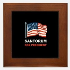 Santorum for president Framed Tile