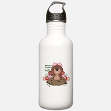 Cute Groundhog day Water Bottle