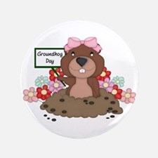 "Groundhog Girl 3.5"" Button (100 pack)"