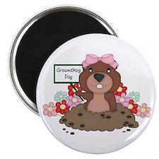 "Groundhog Girl 2.25"" Magnet (100 pack)"