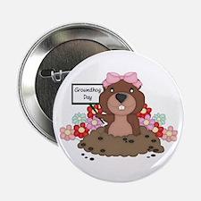 "Groundhog Girl 2.25"" Button"