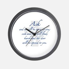 Seek and you will Find Wall Clock
