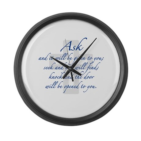 Seek and you will Find Large Wall Clock