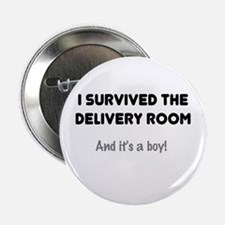 Dad Survived Delivery for Boy Button