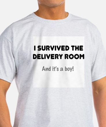 Dad Survived Delivery for Boy Mens T-Shirt