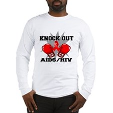 Knock Out AIDS Long Sleeve T-Shirt