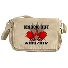 Knock Out AIDS Messenger Bag