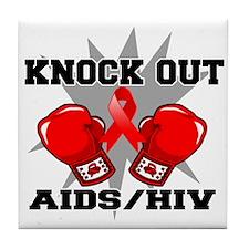 Knock Out AIDS Tile Coaster