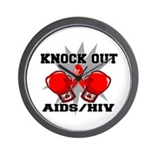 Knock Out AIDS Wall Clock