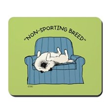 "Keeshond ""Non-Sporting Breed"" Mousepad"