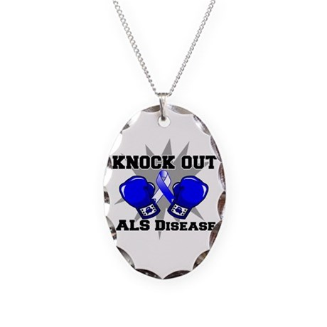 Knock Out ALS Necklace Oval Charm