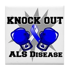 Knock Out ALS Tile Coaster