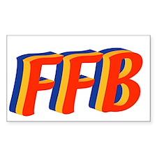 Jewish FFB Rectangle Decal
