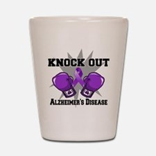 Knock Out Alzheimers Shot Glass