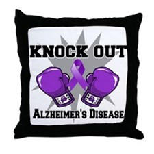 Knock Out Alzheimers Throw Pillow