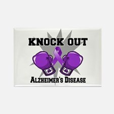 Knock Out Alzheimers Rectangle Magnet