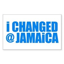 CHANGE AT JAMAICA Bumper Rectangle Decal