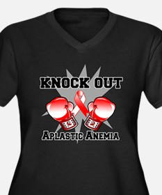 Knock Out Aplastic Anemia Women's Plus Size V-Neck