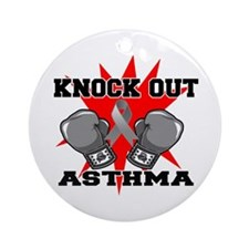 Knock Out Asthma Ornament (Round)