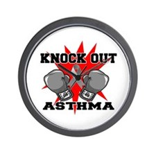 Knock Out Asthma Wall Clock
