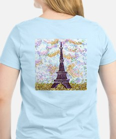 Paris inspired pointillism T-Shirt