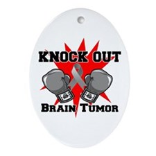 Knock Out Brain Tumor Ornament (Oval)