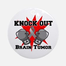 Knock Out Brain Tumor Ornament (Round)