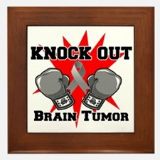 Knock Out Brain Tumor Framed Tile