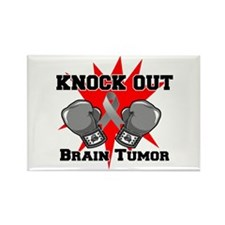 Knock Out Brain Tumor Rectangle Magnet