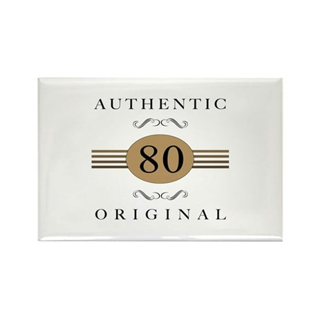 Authentic 80th Birthday Rectangle Magnet (100 pack