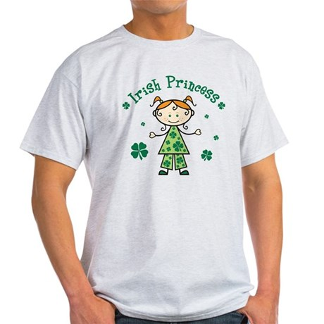 Irish Princess Stick Figure Light T-Shirt