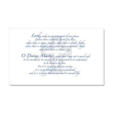 Prayer of St. Francis Car Magnet 20 x 12